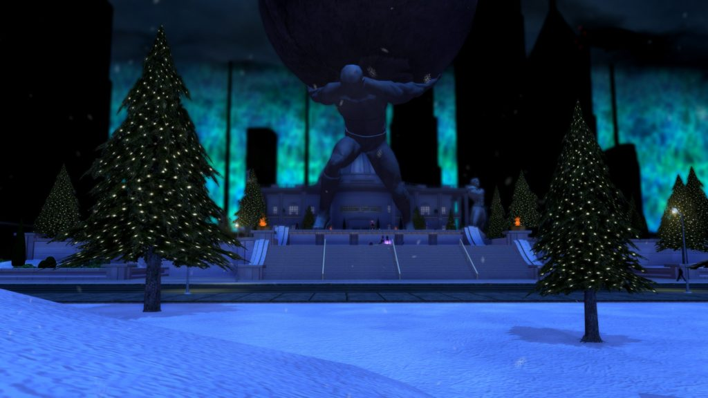 City of Heroes Winter Event Atlas Park